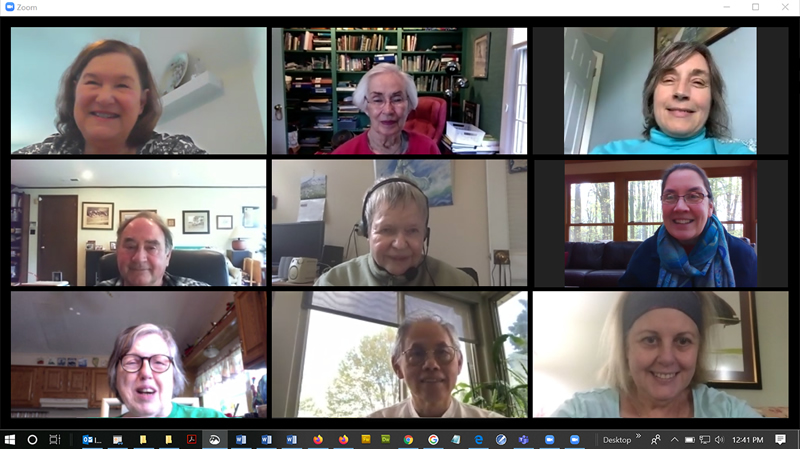 Lifelong learning members participate in zoom session