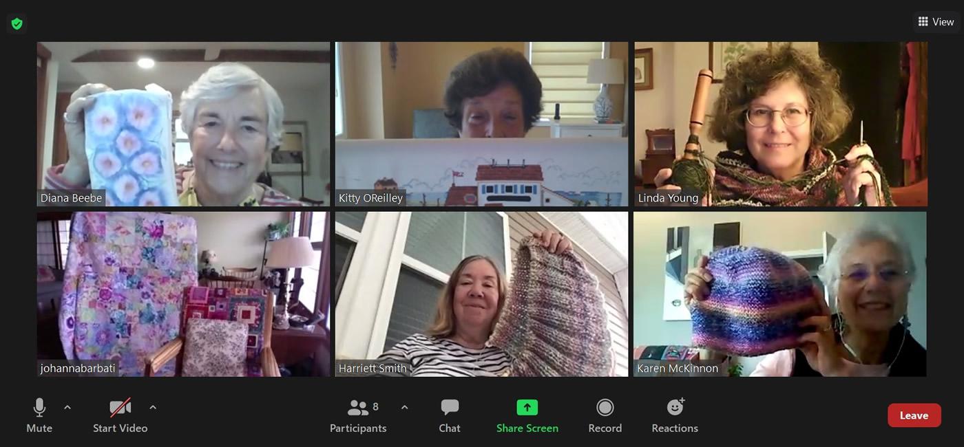 craft class via videoconferencing
